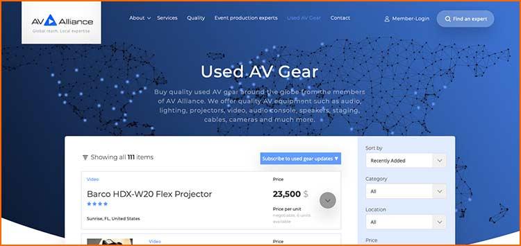 AV Alliance - Used Production equipment websites