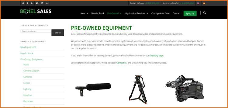 Bexel Sales - Used Production equipment websites