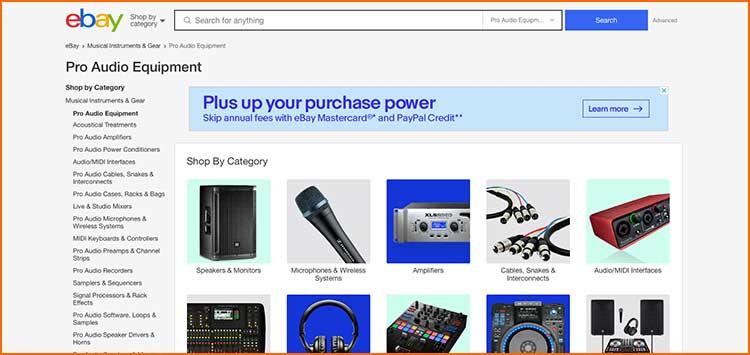 Ebay - Used Production equipment websites